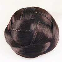 Wholesale New Novelty Hair Bun Extensions Good quality Hair Braided Chignon Synthetic Hairpieces for Women HB053