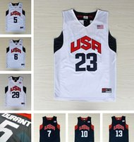 olympic basketball jersey - 2012 Olympics Basketball Jersey Kevin Durant LeBron James Russell Westbrook Kyrie Irving Dream Team Jerseys