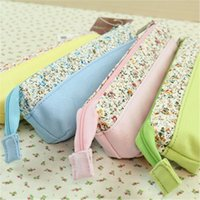 Cheap pencil case,Wholesale twitter cracking fantasy series wagon Korean Floral stitching Pencil Pencil Pencil wholesale all kinds of Korean