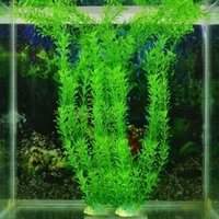 Wholesale 13 quot Artificial Green Plastic Plant Grass Fish Tank Aquarium Ornament Decoration G01270