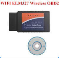 Wholesale Automotive grade plastic WIFI ELM327 V2 Wireless OBDII Diagnostic Interface Auto Scanner Adapter Scan Tool for iPhone for iPad