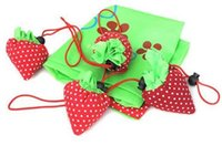 Wholesale Portable Cute Strawberry Bags Eco Reusable Shopping Bag Tote Folding Foldable Bag