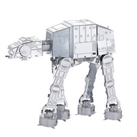 Wholesale New Arrival Fashion Star Wars Imperial Walker D Puzzle Metal Earth D Laser Cut Model D Jigsaws Toys