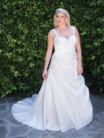 best celebrity wedding gowns - Best selling New Plus Size WEDDING GOWNS Wedding Dresses Bride Dress Summer Spring Autumn Casual Celebrities Wedding Dresses