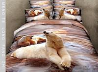 Knitted bear comforter set - Polar Bear Tour Cotton D bedding bedclothes bedding set Full Queen Size sheet quilt cover duvet cover pillowcase Bedding Supplies
