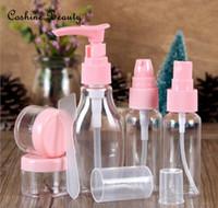 Wholesale 6pcs set Empty PET Travel Transparent Shampoo Purfume Atomizer Spray Bottles Refillable Spray Trabel Bottle Set