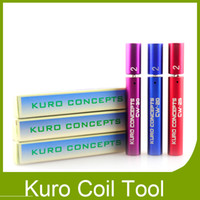 Wholesale Best Kuro Concepts Kuro Koiler Coil Jig for e Cigarette RDA RBA Wire Coiling Tool Atomizer Coil Tool Wrapping Coiler Ecig DHL Free