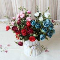 beautiful fake flowers - Decorative Flower Party Decoration Artificial Flowers Sweet Spring Artificial Fake Peony Rose Flower Plastic Beautiful Simulation Arrangemen