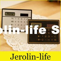 Wholesale Mini Slim Calculator Solar Calculator Ultra Thin Protable Card Style Calculators