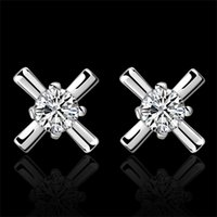 Cheap Wholesale high quality 925 sterling silver Plated Earrings fashion jewelry E587