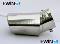 Wholesale Car Exhaust Tip Ends Chrome Straight Tail Pipe Cover Trim Easy Fit