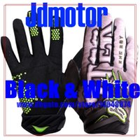 Wholesale 2pairs Motorcycle gloves cycling gloves racing gloves climing gloves M L XL Black white
