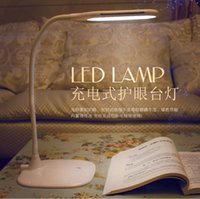 Wholesale 2015 Smart Touch LED Eye Protection Desk Lamp Levels Brightness Degree Rotation Fashion Elegant Usb powered Table Lamp for bedrooms