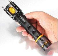 Wholesale Tactical Flashlight Lumens Lanterna Flash light Torch to Shocker CREE XML T6 LEDS Self Defense LED Flashlight