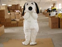 Wholesale adult white plush snoopy dog mascot costumes fancy costumes drop shipping good quality LLY33A