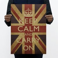 Wholesale keep calm and carry on army recruiting retro kraft paper posters wall stickers room decor home decal quotes mural art home decorat