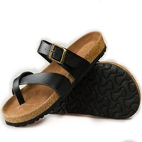 adhesive cork button - Summer couple slippers new tide male cork slippers couple slippers beach sandals women sandals