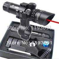 Cheap Wholesale-Newest Outside Adjust Red Dot Laser Sight air Rifle Gun Scope 2 Switch Rail mount weaver mounts