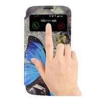 samsung galaxy s4 - S5Q Pattern Flip PU Leather Case Cover Smart Wake View For Samsung Galaxy S4 i9500 AAACIM