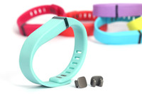 Wholesale Colorful Replacement Rubber Band for Fitbit Flex Smartband Soft TPU Wireless Wristband Activity Bracelet Wrist Strap with Metal Clasp DHL