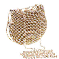 banquet designs - European Fashion Full Crystal Diamond Gold Silver Shell Design Clutch Bags Lady Dinner Banquet Evening Bags