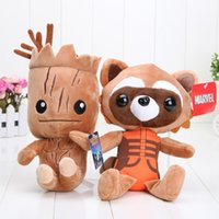 Wholesale New cm Guardians plush doll Tree people groot rocket raccoon plush Children s gift for Christmas