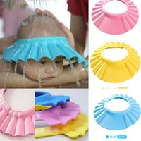 Wholesale adjustable infant shampoo cap bath cap Baby shower shampoo waterproof cap hat Bathing Shower Cap Hat Wash Hair Shield hat cap P