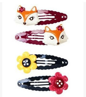Cheap kids hair Barrettes flower and fox gymboree hairbows hairpins hairclips baby toddlers girls hair accessories hair bows hair clips hair pins