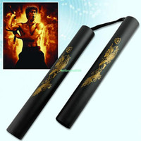 Wholesale EN1197 FOAM PADDED PRACTICE NUNCHUCK NUNCHAKUS MARTIAL ART TOY BLACK CHINESE KUNG FU