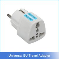 Wholesale Universal Travel Adapter US AU UK to EU Plug Travel Wall AC Power Adapter V A Socket Converter White Charger