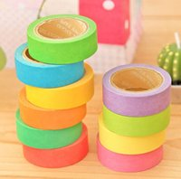 Wholesale Japanese paper tape color tape stickers can be hand writing message memo pad color tape