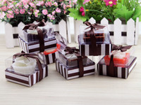 Wholesale 6pcs Romantic love chocolate candle Valentine s Day gift ideas chocolate aromatherapy birthday candles home decoration