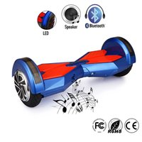 Wholesale 2016 Smart Balance Wheel Two Wheel Self Balancing Electric Scooters mah Battery Electric Skateboard Blue Hoverboard Fast Shipping