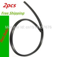 Wholesale 2pcs High Quality Auto Car Vehicle Insert Rubber Wiper Blade Refill mm Black order lt no track