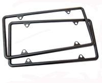 Wholesale New Matte Black Custom Metal License Plate Frames Fit For Any Car Truck order lt no track