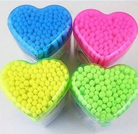 Wholesale Beauty Tools Hearts Packed Skin Care Makeup Double Cotton Swabs
