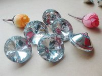 Wholesale 30mm Gem Flower Faceted transparent Glass rhinestone button trim Sewing Diamond Buttons Craft Accessorie scrapbooking