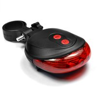 Wholesale Plastic LEDs Bike Tail Light Cycling Rear LED Lamp with AAA Battery Modes