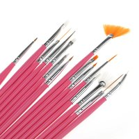 Wholesale New Brand Nail Art Tools Set Portable Painting Drawing Brushes Pen Dotting Pens Pinkful Handle