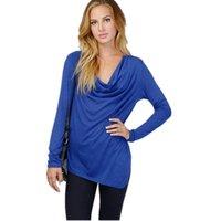 Cheap Women Blouse New Fashion 2015 Women Clothing Spring Casual Bow Neck Long Sleeve Women Tops Sexy Female Shirts 1412233