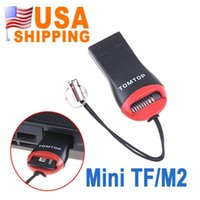 Wholesale US STOCK US Stock To USA CA Mini USB Micro SD T Flash TF M2 Card Reader Supplier UPS