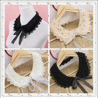 Wholesale New Ladies Faux Pearl Crystal Lace Collar Wedding Party Jewelery Bib Necklace Colors