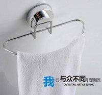 Wholesale 2015 Hot Sale Stainless Steel Round Bathroom Towel Holder Suction Towel Rings Towel Racks Bathroom Accessories