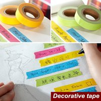 Wholesale 4 Candy Color paper tapes washi Masking tape Adhesive tape stickers for scrapbooking Stationery school supplies