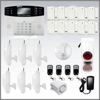 Wireless auto dial alarm - Wireless Home Security Digital Burglar Smart GSM Alarm System With Auto Dial LCD Voice DHL FREE