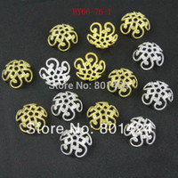 filigree jewelry findings - Flower Filigree Bead Cap End mm Gold Silver For Jewelry Making Craft DIY jewelry copper finding