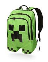 Wholesale Creeper Backpack Fashion minecraft School Bag For Teenagers mine craft cartoon Camping Storage Mochila Tag Jan Sports Travel Bagpack Daypack