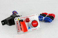 Wholesale New Arrival Racing Car V Ignition Switch Panel Engine Start Push Button Red LED Toggle drop ship C40