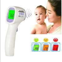 Wholesale new Digital Electronic Baby Infrared Thermometer Body Temperature Multi Function Forehead Color Alarm Three Color Backlight HTD8808