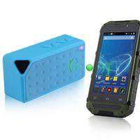 Wholesale car Mini Wireless Bluetooth FM TF USB Speaker Hands Free Mic Super Bass Blue Subwoofers